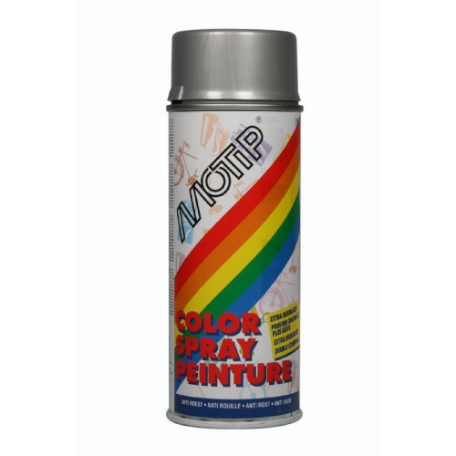 MOTIP COLOURSPRAY RAL 9006 WIT ALUMINIUM METALLIC 400 ML