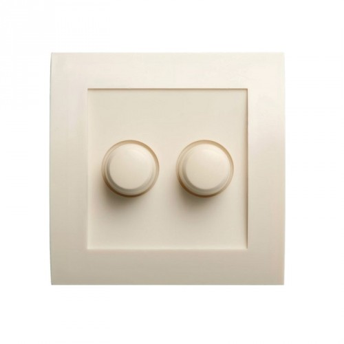 LED DUO / SERIE DIMMER INBOUW 2X 3-50W LED CREME WIT