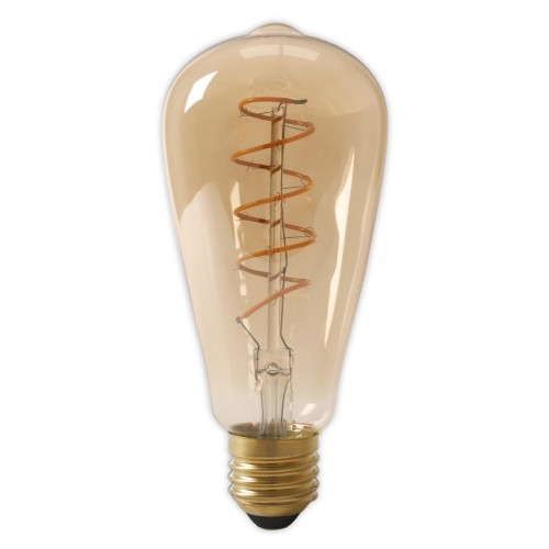CALEX LED FULL GLASS FLEX FILAMENT RUSTIK LAMP 240V 4W 200LM E27 ST64,