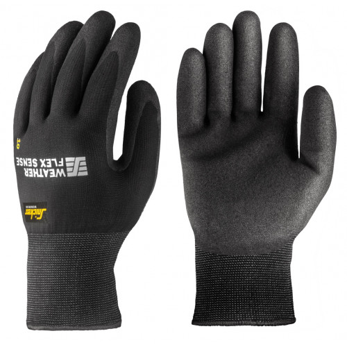 WEATHER FLEX SENSE GLOVE (PAAR), ZWART - ZWART (0404), 10